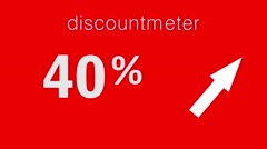 Black Friday Sale discount percentage text and animated look like special Stock Footage