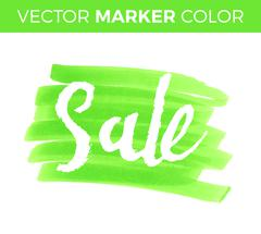 Vector handwritten calligraphy inscription on blue grunge watercolor stain ba Stock Illustration