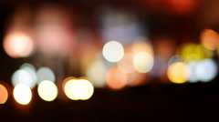 Moving Blurry Traffic Lights At Night Stock Footage