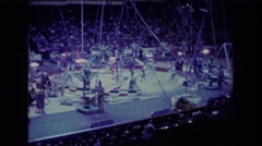 1974: watching a very cool performance at the circus. BOSTON Stock Footage