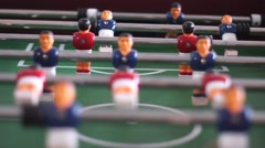 The game of table football Stock Footage
