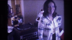 1975: sighting of a young girl standing in her living room. BAXTER MAINE Stock Footage