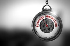 Business Prediction on Pocket Watch. 3D Illustration Stock Illustration