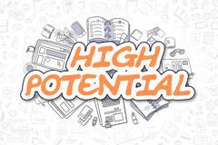 High Potential - Doodle Orange Word. Business Concept Stock Illustration