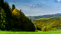 Clouds over Pieniny mountains. Stock Footage