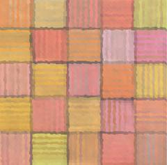 Striped mixed patchwork blurry square pattern background Stock Illustration