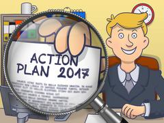 Action Plan 2017 through Lens. Doodle Design Piirros