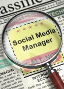 Social Media Manager Wanted. 3D Stock Illustration