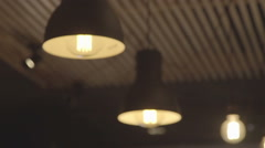 Lamps on the ceiling. The light in the room Stock Footage