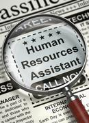 We're Hiring Human Resources Assistant. 3D Stock Illustration