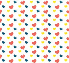 Seamless pattern with hearts.Vector illustration Stock Illustration