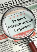 We are Hiring Project Infrastructure Engineer. 3D Stock Illustration