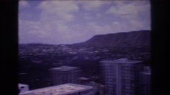 1977: just take a moment and look at how beautiful this view really is HONOLULU Stock Footage