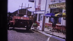 1967: a man who needs to ask for directions to find where his hotel is located. Stock Footage