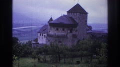1967: a castle on top of the mountain with a beautiful view FRANCE Stock Footage