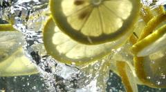Slow Motion Lemon in Whirlpool Stock Footage
