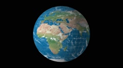 Map of earth with latitude and longitude Stock Footage