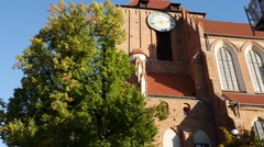 Church of John Baptist and John Evangelist, Torun Stock Footage
