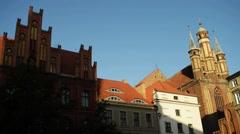 Holy Spirit Church in Torun, Poland Stock Footage