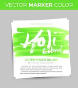Happy Holi celebration. Design for Indian Festival of Colours Stock Illustration