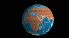 Earth map wall world Stock Footage