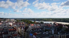 Torun (Thorn) is city in Poland, on Vistula Rive Stock Footage