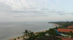 Panoramic view of beach in Bali Stock Footage