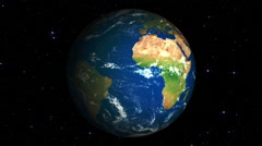 Rotation of the planet Earth around its own axis Stock Footage