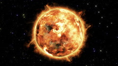 Sun with solar flare Stock Footage