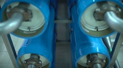 Water treatment plant. The Modern Automated Production Line Stock Footage