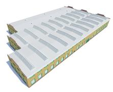 Hangar building. Isolated on white Stock Illustration
