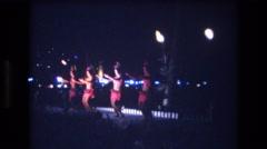 1977: dancers dancing the hula HONOLULU HAWAII Stock Footage