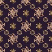 Seamless pattern rich dear background Stock Illustration