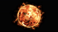 Sun with solar flares 4k Stock Footage