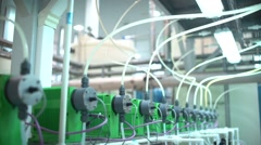 Water treatment plant. The Modern Automated Production Line. Factory Stock Footage