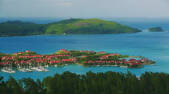Beautiful panorama, Seychelles Stock Footage
