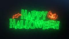 Happy Halloween Loop Animation/ Dark Background Stock Footage