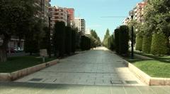 La alameda in Cartagena, Spain Stock Footage