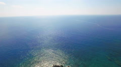 Aerial View of Tropical Coast with Forest and Bay Stock Footage