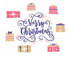 Happy New Year and merry christmas. Holiday Vector Illustration Piirros