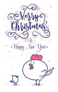 Happy New Year and merry christmas. Holiday Vector Illustration Stock Illustration