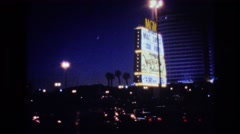 1977: las vegas nights in great hotels and casinos enjoying very luxury moments. Stock Footage
