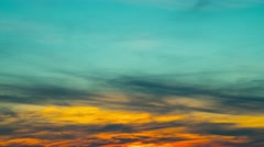 Sunset and clouds, abstract background, time-lapse Stock Footage