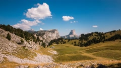 Timelapse of Mont Aiguille from Chaumailloux Stock Footage