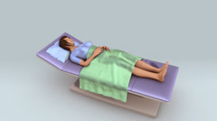 Patient lying on the bed Stock Footage