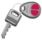 Key from car Stock Illustration