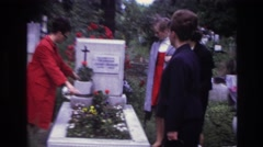 1967: visit to the cemetery with family. FRANCE Stock Footage