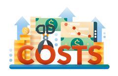 Reduce Costs - flat design website banner Piirros