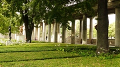 Colonnade in Alte Nationalgalerie, Berlin, Germany Stock Footage