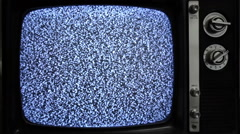 Old TV with Static or Snow Stock Footage